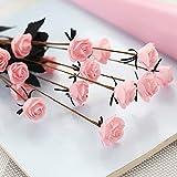 Strung Künstliche Blumen Rose Hochzeit Bouquet Braut Hortensien Dekor Gefälschte Künstlicher Pinecone Kunstblumen Kunststoff Grüne Pflanzen Kunstblumen(Rosa,50cm)