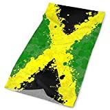 NHUXAYH Jamaica Flag Tube Bandanas Headwear Headband Magic Scarf Face Mask Neck Gaiter
