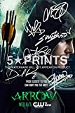 Arrow Poster Photo Signed PP 12x8 6 Cast Autographs Stephen Amell Grant Gustin Caity Lotz David Ramsey Willa Holland Katie Cassidy Autograph Print Style B by 5 Star Prints