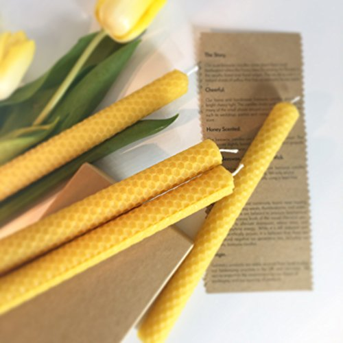 4 Dinner/ Spell 100% Beeswax Candles. Eco-Friendly Packaging. Natural, Home and Handmade...