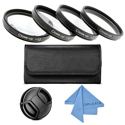 Close Up Filter Kit, Cam, ulata + 1 + 2 + 4 + 10 macro lens close-up Filter Set with Pouch For Canon Nikon Sony Pentax Tamron Lens DSLR