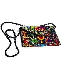 Rajasthani Handicraft Embroidered Clutch Sling Bag Clutch Bag - B07F1QZG7D