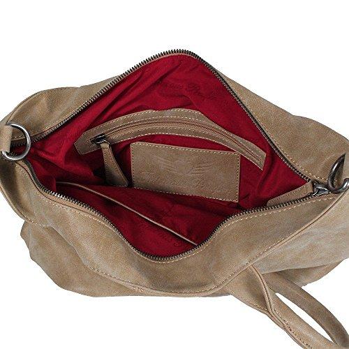 Fritzi Di Prussia Valeria Vintage Manico Bag 36 Cm Sabbia