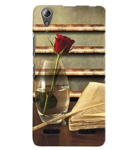 Citydreamz Red Rose\Books\Love\Valentine Hard Polycarbonate Designer Back Case Cover For Lenovo A6000 Plus