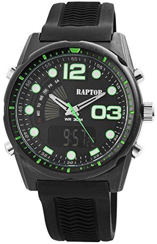 Raptor Herren Uhr Analog-Digital Silikon Armband RA20031-001