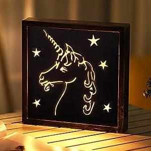 XIYUNTE Retro Luces de unicornio