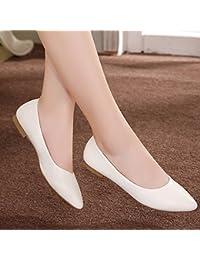 GAOLIM fille avec une Pointe fine avec de faibles Chaussures Printemps et Automne, avec une seule Chaussures dans le printemps, Noir, 40