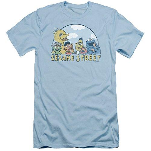 Sesame Street Herren T-Shirt Hellblau