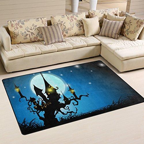 ingbags Super Weich Moderner Halloween Night Haunted House, ein Wohnzimmer Teppiche Teppich Schlafzimmer Teppich für Kinder Play massiv Home Decorator Boden Teppich und Teppiche 78,7x (Halloween House Haunted Themen)