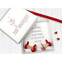 Geldgeschenk Verpackung zur Hochzeit fliegende Herzchen