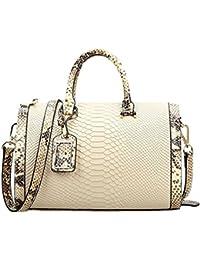 Dissa Q0497,femme blanc cassé véritable de modèle de sac à main en cuir 30x20x15.5 cm (B x H x T)
