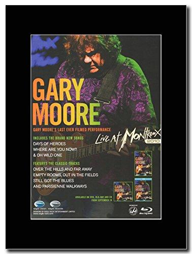 Gary Moore-Live at Montreux Magazine promo su una montatura nero