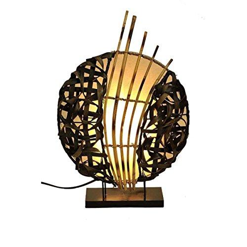 Deko-Leuchte Stimmungsleuchte Stehleuchte Tischleuchte Tischlampe Bali Asia Feng Shui Color Weiß (Asiatische Orientalische Lampe)