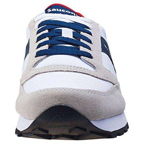 Saucony Jazz Original hommes, suède, sneaker low Blanc / bleu