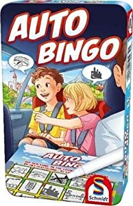 Schmidt Spiele 51434 - Bingo de Coche con Juego en Lata de Metal, Multicolor