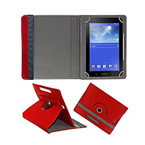 Fastway Rotating 360° Leather Flip Stand Cover For Zync Rainbow Z81 -Red