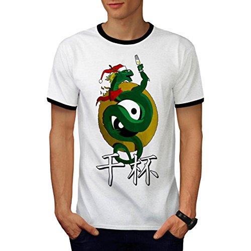 Neu Jahr Feier Zeit Herren S Ringer T-shirt | Wellcoda (Yin Yang Halloween Kostüm)