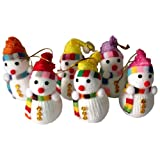Funcart Pack of 6 Snowman hanging for christmas dcor