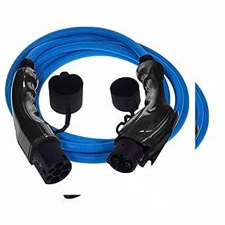 Premium Euro Series Ladekabel für Elektroautos mit Bonus Tragetasche Typ 1 bis Typ 2 - 32 amp | 5 meter | 7.2kW - Blau