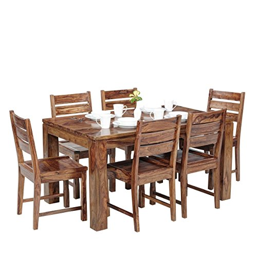 Altavista Viver 6 Seater Wooden Dining Set (Teak Finish)