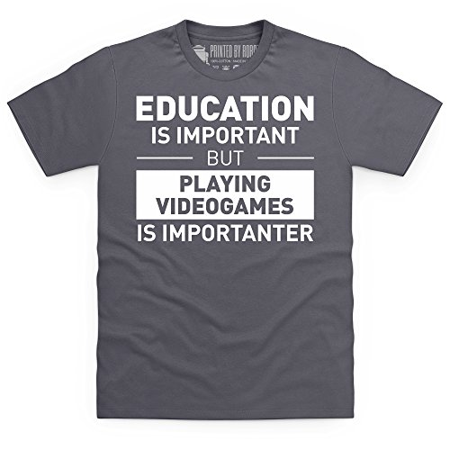 Playing Videogames T-Shirt, Herren Anthrazit