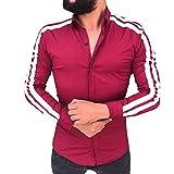 Herren Pullover Pullover Plaid Shirt Männer Langarm Slim Jumper Strick Outwear Bluse Freizeit Party Reisen Tanzparty Festival Warm Atmungsaktiv Bequem 100% Baumwolle