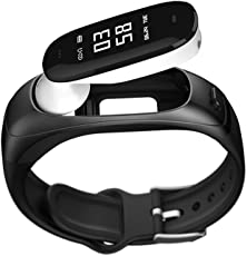 SOULFIT Sonic V08 Activity Tracker with Detachable Bluetooth earpiece, Heart Rate, Blood Pressure Monitoring, Sleep Analysis and Pedometer