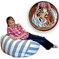 Demana - Puf de Almacenamiento para niños, diseño de Animales, Gris, Large