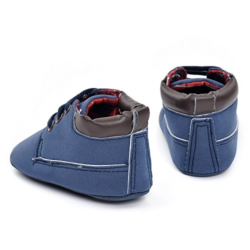 Infant Jungen Navy Braun Sneakers PU Sneakers Größe 12-18 Monate Braun