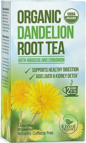 Dandelion Root Tea - Raw Organic Vitamin Rich Digestive -