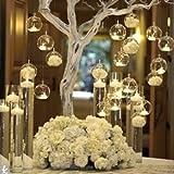 18 Candelieri Di Cristallo Vetro Appendibili Vaso Vetro a Sfera Sospeso Domestico Creativo Candeliere Romantico Nozze/compleanno/decorazione Festiva