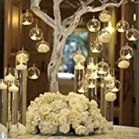 18-teilige Set Hängend Kristall Glas Kerzenständer Kreative Haus Hängende Glasball Romantische Kerzenständer Hochzeit / Geburtstag / Fest Deko