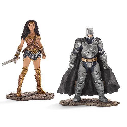 Schleich DC Comics - Wonder Woman 22527 und Batman in Rüstung 22526 2er Set (Batman Rüstung)