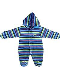 Fixoni bébé unisexe, combi-pilote à capuche, Babytales, bleu à rayures, 3121503