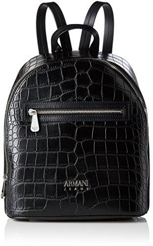 Armani Jeans Da Donna zaino di effetto coccodrillo Nero Nero
