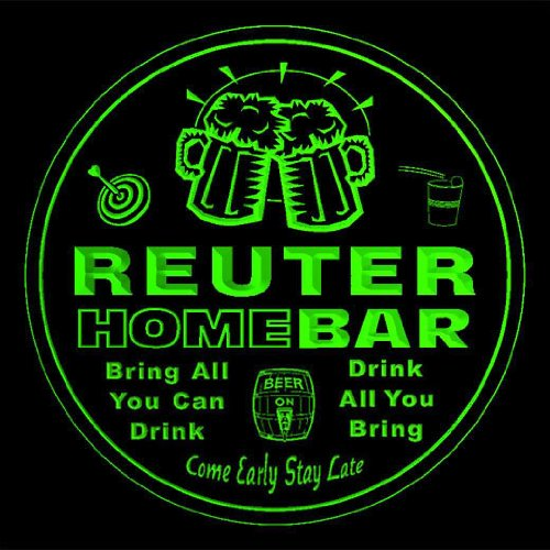 4x-ccq37352-g-reuter-family-name-home-bar-pub-beer-club-gift-3d-coasters