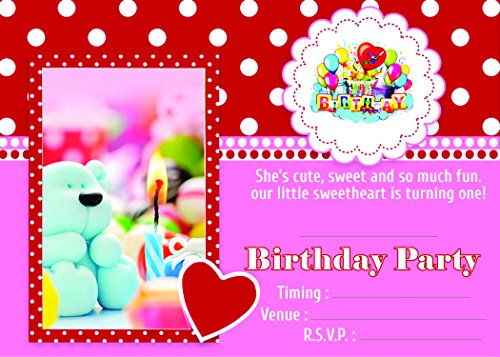 Birthday Invitation Card on Metallic Sheet (Pack of 50 Cards) NBC-003