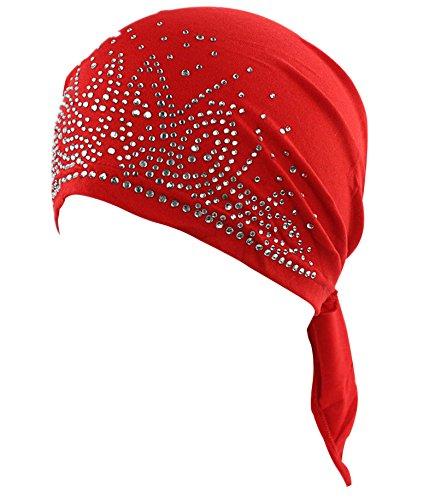 100% Baumwolle Entspannt Haarnetz Chemo Cap - Hüte für Krebs Chemo Patienten (Headcover Turban)