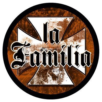 la Familia Aufkleber - Oldschool Iron Cross decal patch 95 mm - DUB (Iron Cross Decal)