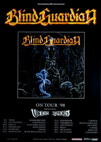 Blind Guardian-1998-Tour Poster-Nightfall In Middle Earth-Tour Poster