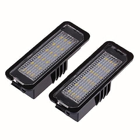 2pcs Lizenz LED Kennzeichen Lichter 3528 Kennzeichenleuchte für VW Golf GTI 5 6 Passat
