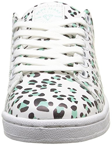 Pepe Jeans Club Printed, Oxfords femme Turquoise (517 Lt Turquoise)