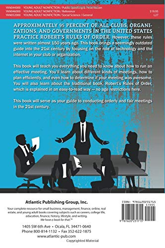The Young Adult's Guide to Robert's Rules of Order How to Run Meetings for Your Club or Organization