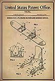 United States Patent Office - Design for a Snowboard Binding device - Entwurf für einen Snowboard-Bindungsvorrichtung - 1995 - Young - Design No 5.409244 - schild aus blech, metal sign, tin