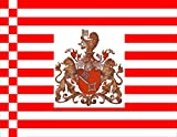 magFlags Flagge: Large Staatsflagge Bremen Kaiserreich | Staatsflagge Bremen, Deutsches Kaiserreich | Querformat Fahne | 1.35m² | » Fahne 100% Made in Germany