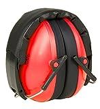 KiddyPlugs Gehörschutz für Kinder & Jugendliche | Kompakt, Komfortabel und Faltbarer Gehörschützer | Verstellbarer Ohrschützer - Mitwachsend | Ideal für Kinder ab 2 bis 12 Jahre | Farbe: Rot