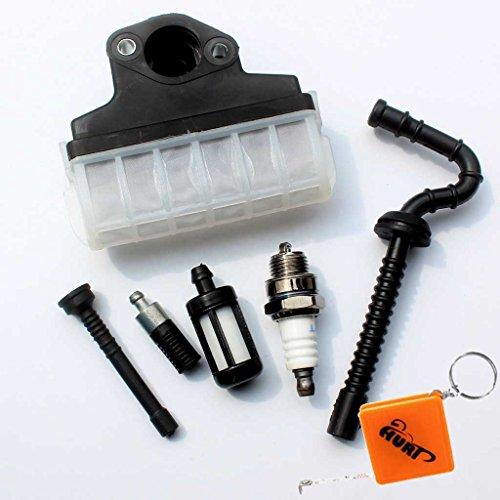 HURI Luftfilter + Zündkerze + Benzin / Öl Schlauch Filter für Stihl 021 023 025 MS210 MS230 MS250 Motorsägen (öl-filter Zündkerzen)