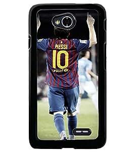 Printvisa Footballer In Action Back Case Cover for LG L70 D320N::LG L70 Dual D325