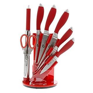 Pradel Excellence - I7408R - Bloc de 5 Couteaux de Cuisine Rouge