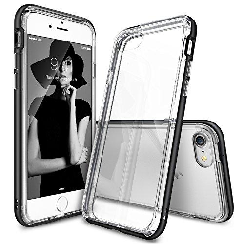 Custodia iPhone 7, Ringke [Frame] A doppio strato di TPU + PC Bumper [Protezione goccia] Cancella Torna Shock assorbimento di liquidi bordo curvo Migliorare protettivo paraurti per Apple iPhone 7 2016 - SF Black